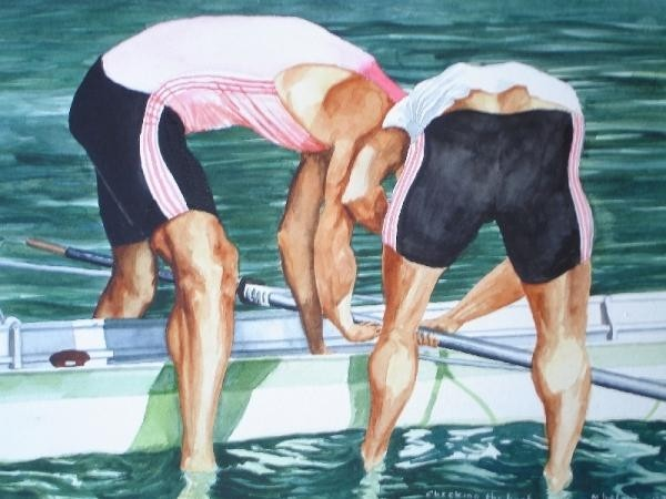 Rowers - Checking the boat