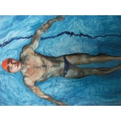 Swimmer -  Come on in Watercolour